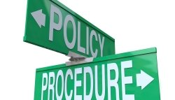 Policy and procedure arrows